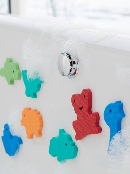 Stickers de bain en mousse + filet de rangement MULTICOLORE 1 - vertbaudet enfant