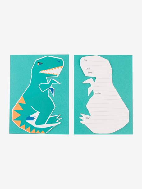 8 invitations et enveloppes MY LITTLE DAY DINOSAURE+LICORNE+MINI ANIMAUX+MINI FELINS 2 - vertbaudet enfant