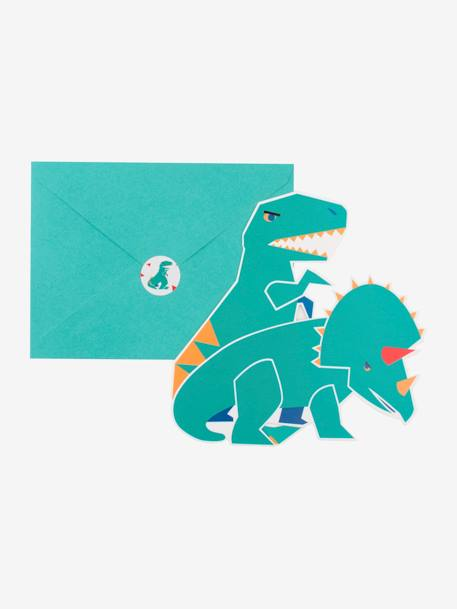 8 invitations et enveloppes MY LITTLE DAY DINOSAURE+LICORNE+MINI ANIMAUX+MINI FELINS 1 - vertbaudet enfant