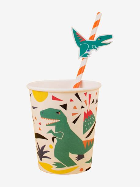 Lot de 12 pailles en carton MY LITTLE DAY Dinosaure+Licorne+Mini felins 1 - vertbaudet enfant