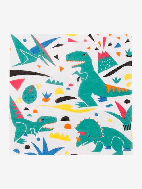 Lot de 20 serviettes en papier MY LITTLE DAY DINOSAURE+LICORNE+MINI ANIMAUX+MINI FELINS 1 - vertbaudet enfant