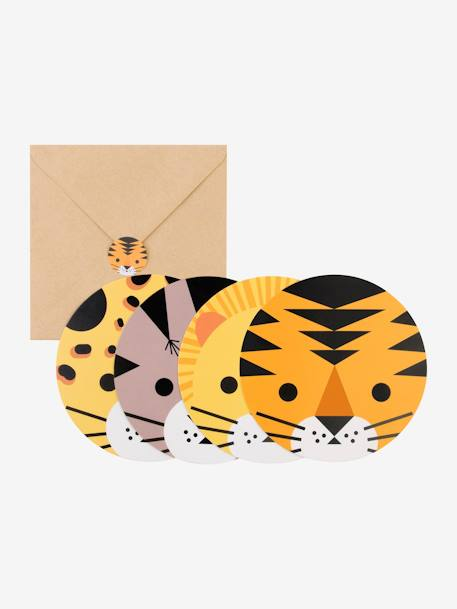 8 invitations et enveloppes MY LITTLE DAY DINOSAURE+LICORNE+MINI ANIMAUX+MINI FELINS 9 - vertbaudet enfant