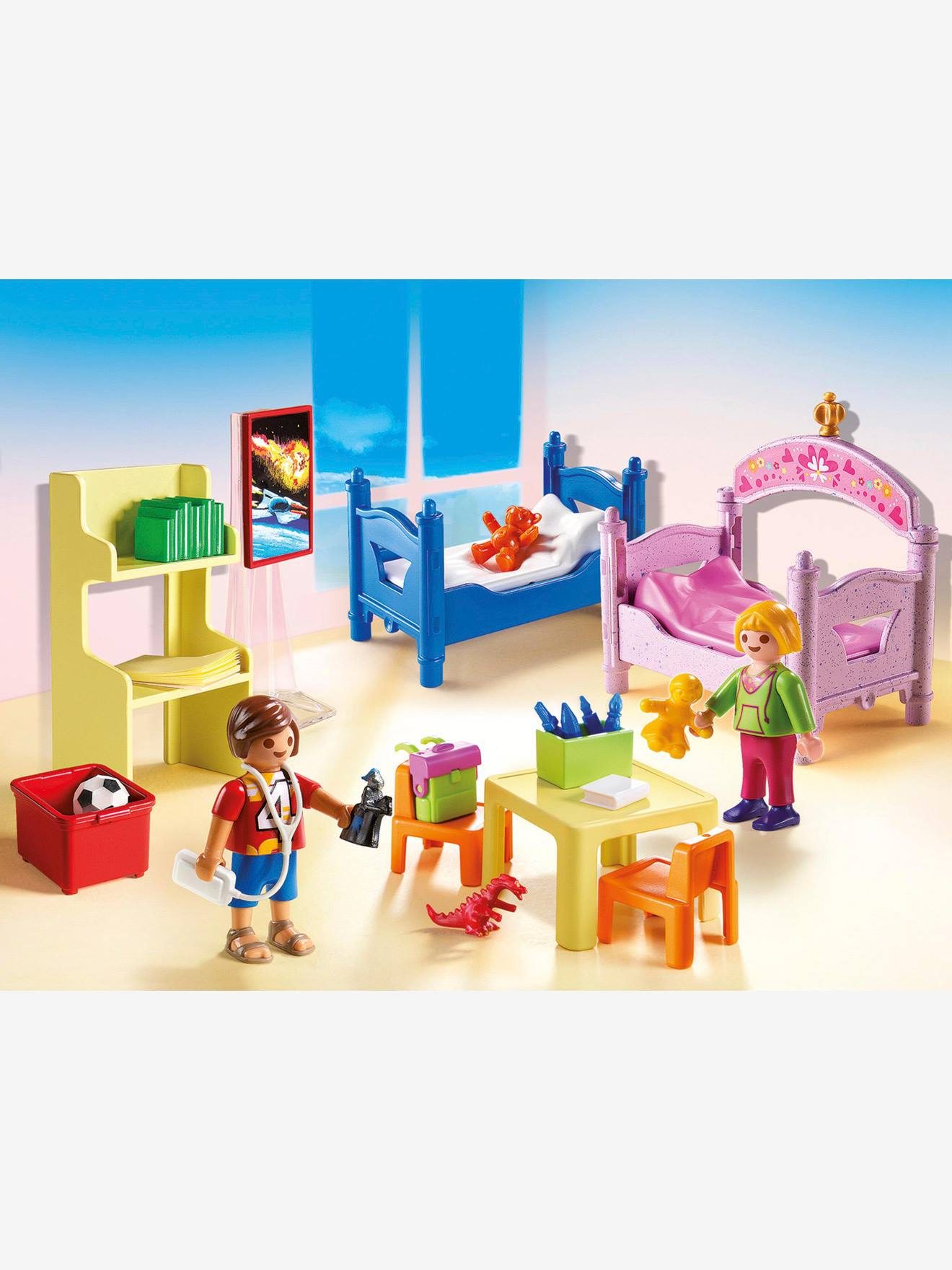 5306 Chambre d\'enfants avec lits superposés Playmobil multicolore -  Playmobil