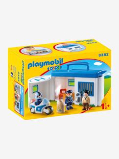 Jouet-Figurines et mondes imaginaires-9382 Commissariat de police transportable Playmobil