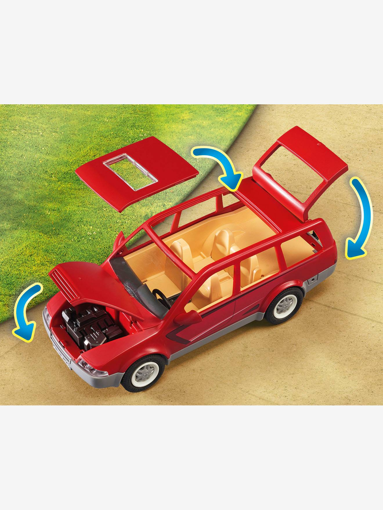 Avec Famille Playmobil Rouge Voiture 9421 YIeWEDH29