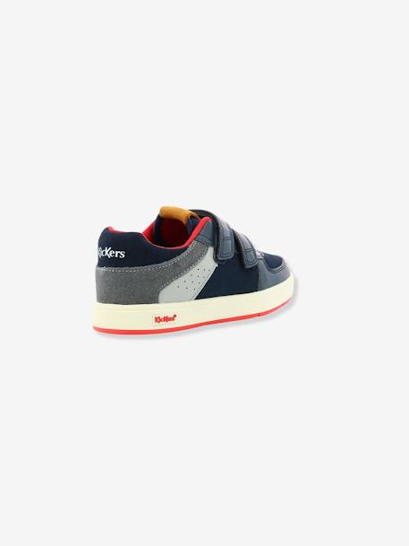 Baskets Sneakers garçon Gready Low KICKERS® MARINE ROUGE 4 - vertbaudet enfant