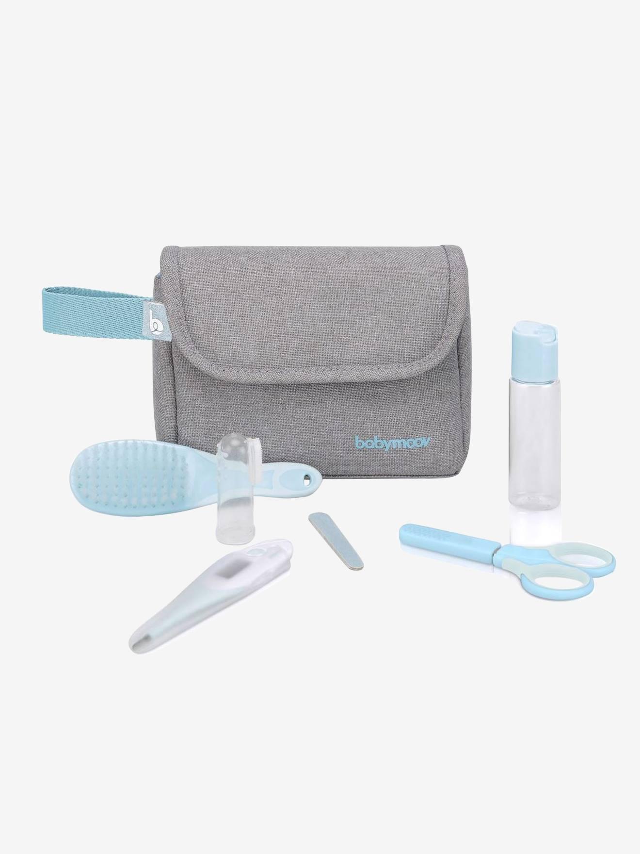 Trousse de toilette compacte bébé BABYMOOV - 6 accessoires gris chiné