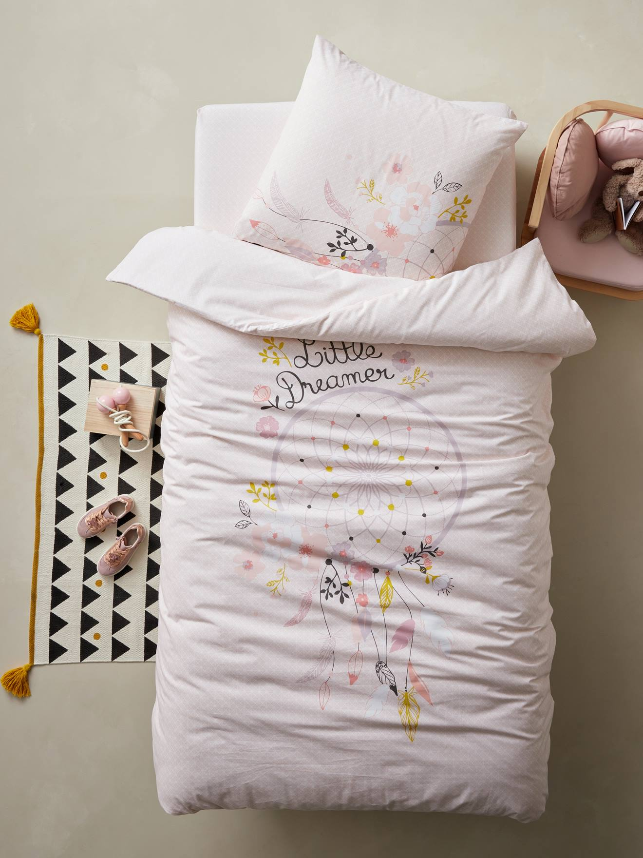 taie d/'oreiller//RIDEAUX Filles Bébé Ensemble de literie pour lit bébé bébé housse de couette