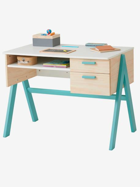 bureau primaire coloriage rose vertbaudet. Black Bedroom Furniture Sets. Home Design Ideas