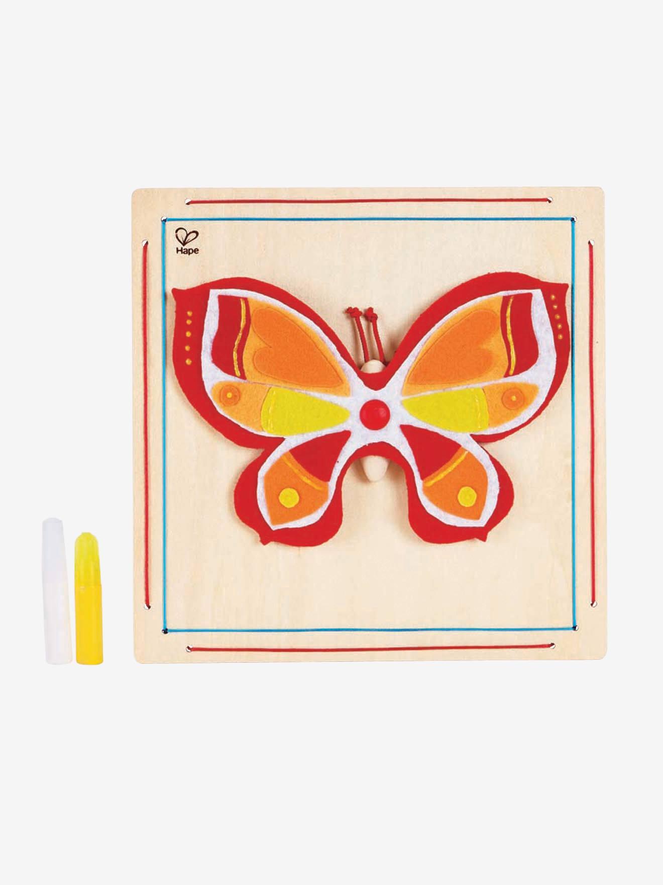 Kit cadre feutrine papillon multicolore