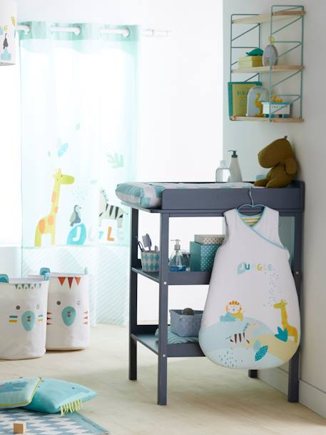 Table à langer LIGNE MADISON Blanc+Gris 12 - vertbaudet enfant