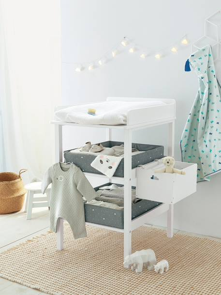 Table à langer LIGNE MADISON Blanc+Gris 3 - vertbaudet enfant