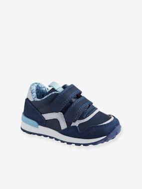 Baskets scratchées bébé garçon esprit running bleu marine