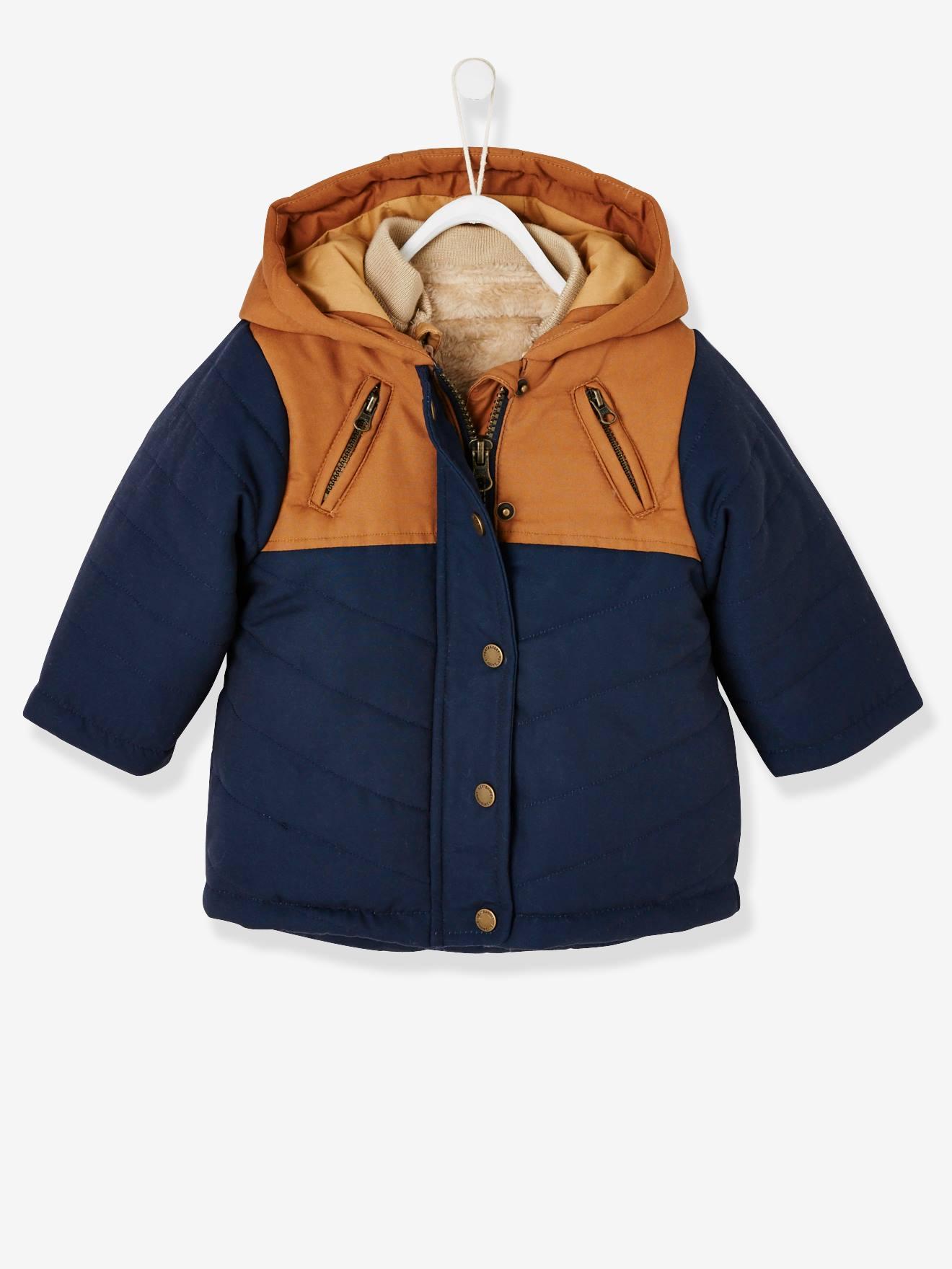 manteau chaud bebe 12 mois capuche amovible